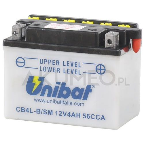 Akumulator UNIBAT CB4L-B/SM 12V 4Ah 56A prawy+ oP