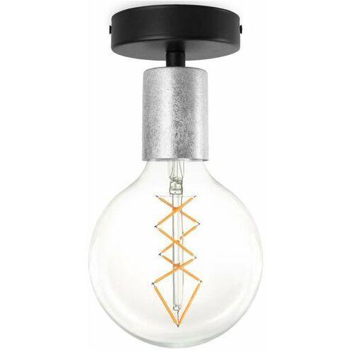 Lampa sufitowa cero 5902429621604 loftowa oprawa metalowa czarna srebrna marki Sotto luce