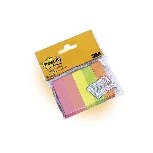 Post-it znaczniki samoprzylepne 670/5, 15x50mm, 5 bloczków po 100 kartek marki 3m