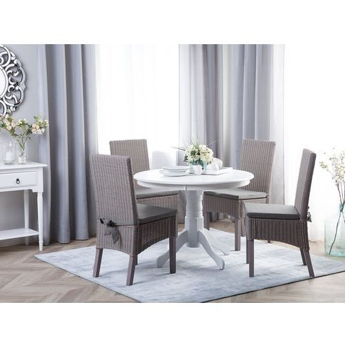 Zestaw 2 krzeseł rattanowych szare ANDES, kolor szary
