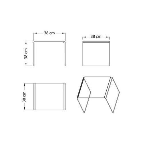 Stolik szklany PERSOS B - szkło transparentne (5900168809505)