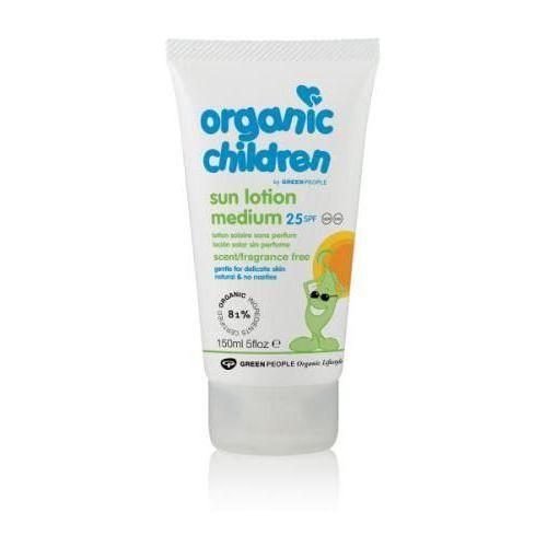 Organic children bezzapachowe mleczko do opalania dla dzieci spf25 150ml marki Green people