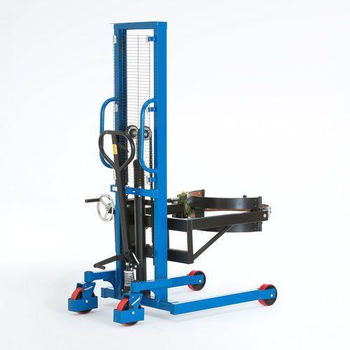 Hydrauliczny podnośnik do beczek, nachylenie 120°, obciążenie 400 kg, 30136