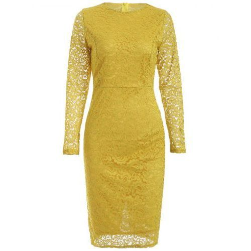 Long sleeve lace openwork dress marki Rosewholesale