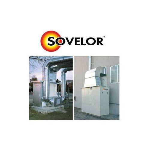 Nagrzewnica stacjonarna olejowa lub gazowa = sf ex 900 - 872 kw wersja przeznaczona do stałego montażu na zewnątrz budynku marki Maser - sovelor