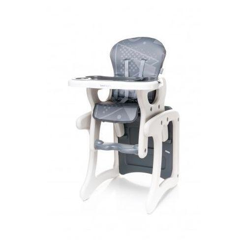 fashion krzesełko do karmienia + stolik 2 w 1 grey nowość wyprodukowany przez 4baby