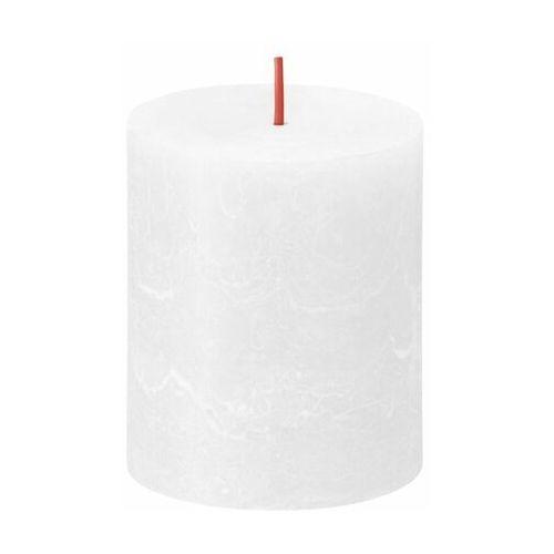 Świeca pieńkowa Rustic Shine biała wys. 8 cm Bolsius (8717847146533)