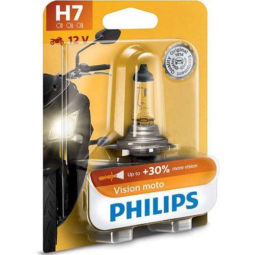 Żarówka Motocyklowa Philips® H7 Vision Moto | Blister 1 szt.