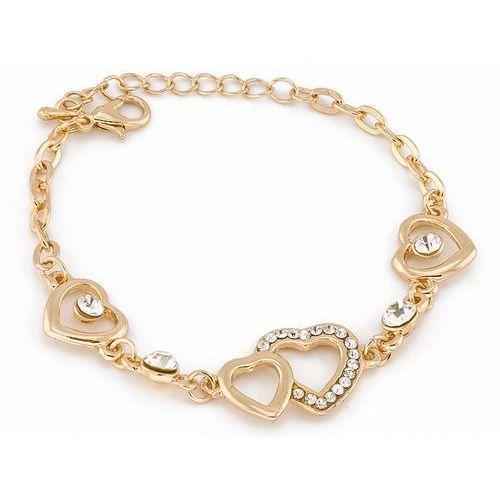 Cloe Bransoletka złote serca - złota