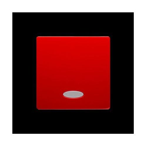 Klawisz pojedynczy z oczkiem do łączników/przycisków z podświetleniem; czerwony
