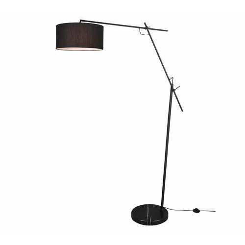 Trio Ponte 401600132 lampa stojąca podłogowa 1x40W E27 czarna/czarna, kolor Czarny