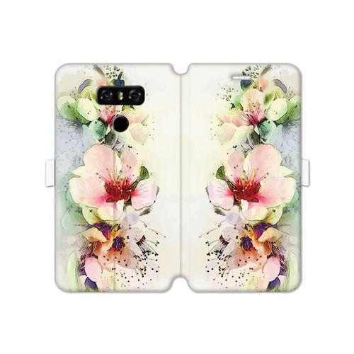 LG G6 - etui na telefon Wallet Book Fantastic - róże herbaciane
