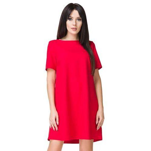Czerwona Sukienka o Kształcie litery A
