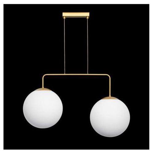 Lampa wisząca retro 67770 industrialna oprawa metalowy zwis kule balls złote białe marki Ramko
