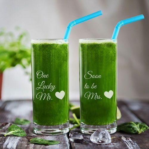 Narzeczeni - dwie grawerowane szklanki - szklanki marki Mygiftdna