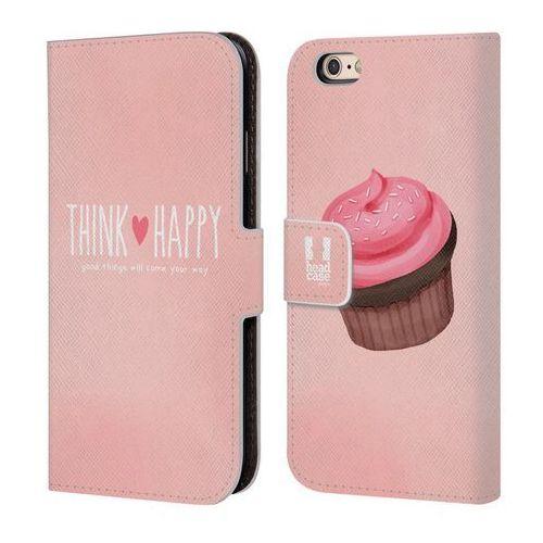 Etui portfel na telefon - Cupcake Happiness PINK, kolor różowy