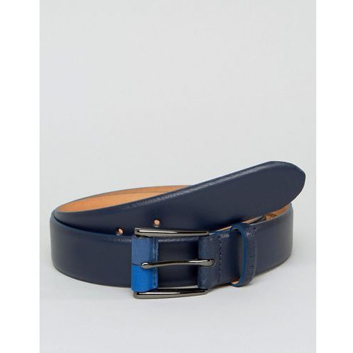 Ted Baker Belt in Leather with Buckle Detail - Navy