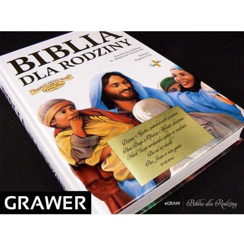 Biblia dla rodziny pamiątka z grawerem na chrzest od producenta Alechrzest.pl