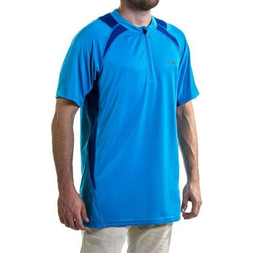 Koszulka męska ASICS - Hermes Ss 1/2 Zip 321313 8098 Niebieski