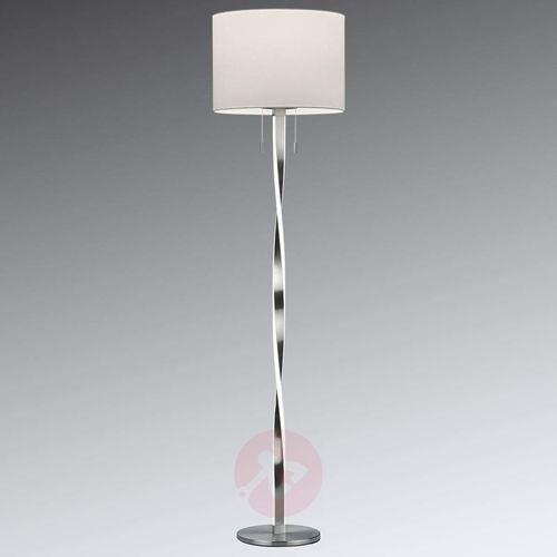 Trio leuchten Nandor – tekstylna lampa stojąca z dodatkowymi led (4017807380439)