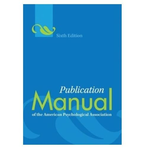 Publication Manual of the American Psychological Association (9781433805615)