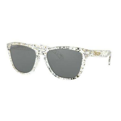 Okulary frogskins metallic splatter clear prizm black oo9013-g655 marki Oakley