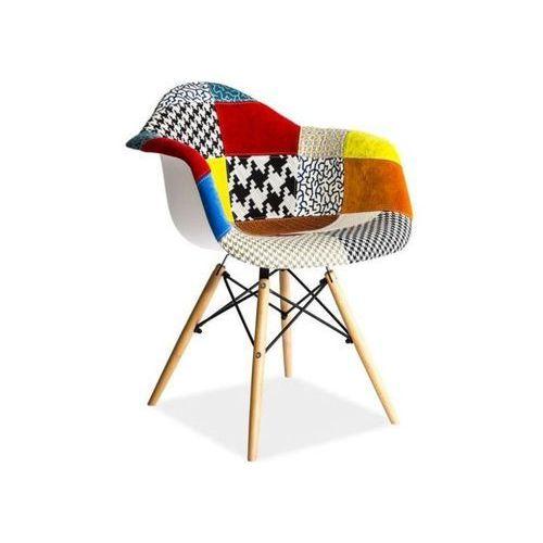 Krzesło drewniane  leon a patchwork marki Signal