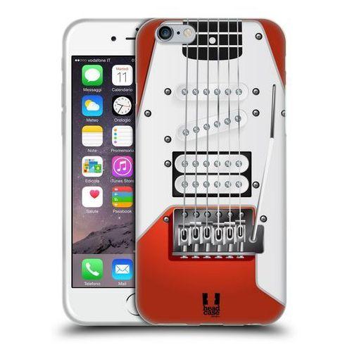 Etui silikonowe na telefon - Electric Guitar ORANGE, kolor pomarańczowy