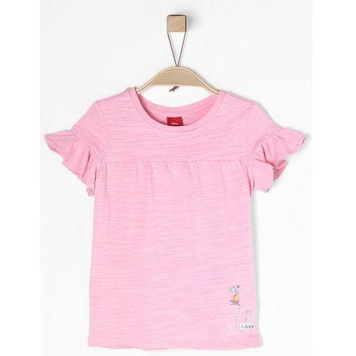 S.oliver t-shirt dziewczęcy 116 - 122 jasnoróżowy (4055268291611)