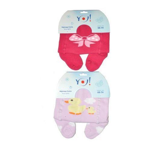 Rajstopy YO! Girl Frotte art.RA-07 56-86 56-62, wielokolorowy, YO!, 5901560808233