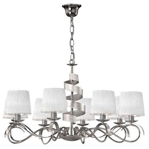 Candellux Lampa oprawa wisząca zwis denis 8x40w e14 chrom/biały 38-23452