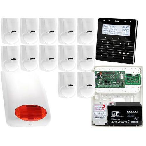 Zestaw alarmowy satel integra 128-wrl manipulator sensoryczny int-ksg-bsb 12x czujka lc-100 sygnalizator zewnetrzny spl-5010 r powiadomienie gsm marki Satel set