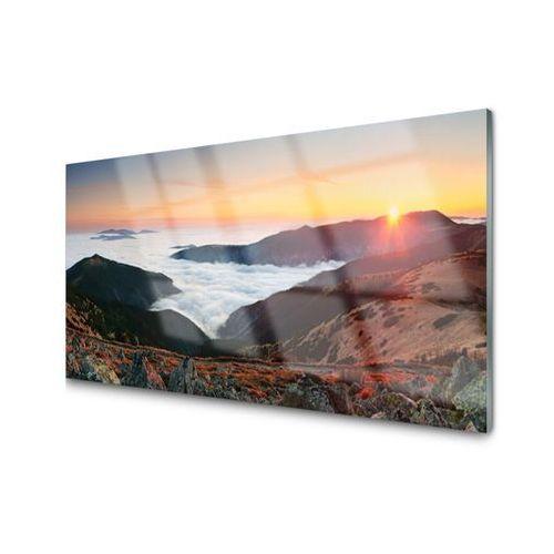 Tulup.pl Obraz akrylowy góry chmury słońce krajobraz