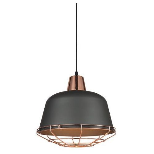 Italux Lampa wisząca annika 1 x 60 w e27 szara/miedź (5900644323761)