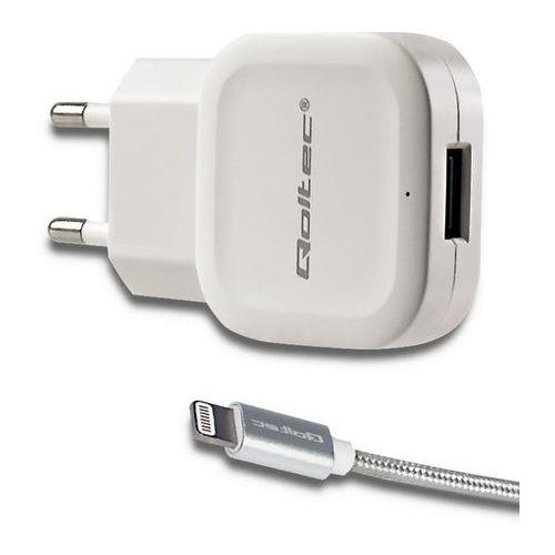 Ładowarka Qoltec 51834 (2400 mA; 12W; iPhone/iPad Lightning, USB)