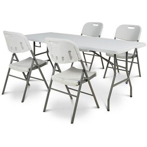 Zestaw stół cateringowy składany 180 cm + 4 krzesła - transport gratis! marki Garden point