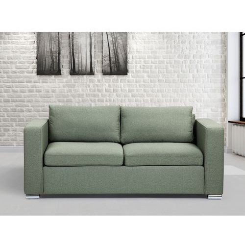 Sofa oliwkowa - trzyosobowa - kanapa - sofa tapicerowana - helsinki marki Beliani