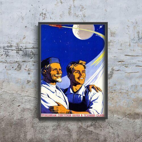 Vintageposteria.pl Plakat do pokoju plakat do pokoju chwała radzieckim robotnikom