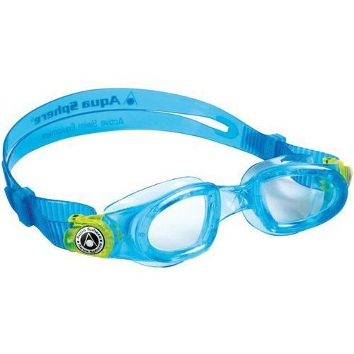 Aqua sphere Aquasphere okulary do pływania moby kid clear lens aqua/lime (8032621382465)