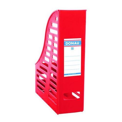 Pojemnik ażurowy na dokumenty DONAU, PP, A4, składany, czerwony