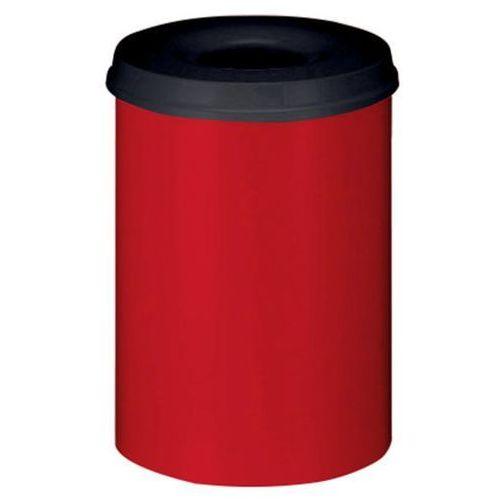 Bezpieczny kosz na papier, poj. 30 l, wys. 470 mm, czerwony. korpus z blachy sta marki Vepa bins