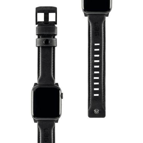 Urban armor gear uag leather strap skórzany pasek do apple watch 44 mm / 42 mm (black)