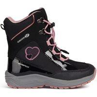Geox buty zimowe dziewczęce new alaska 33 czarne/różowe