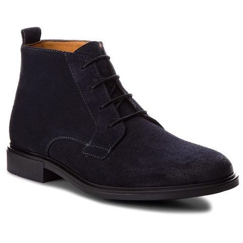 Trzewiki - color block heel suede boot fm0fm01805 midnight 403, Tommy hilfiger, 40-46