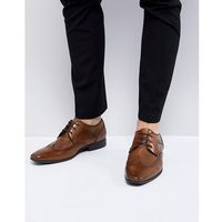River island smart brogues in tan - tan