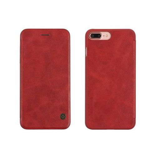 Apple iPhone 8 Plus - etui na telefon Nillkin Qin - czerwone, kolor czerwony