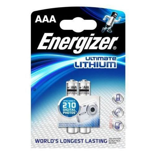 Energizer Bateria  ultimate lithium aaa l92/2 szt. (7638900262629)
