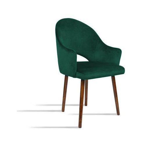 Krzesło BARI zielony/ noga orzech/ SO260