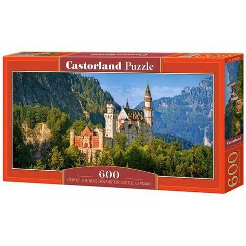 Puzzle 600 panoramiczne: view of the neuschwanstein castle, germany marki Castor