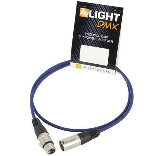 Mlight dmx 1 pair 110 ohm 0,5m przewód dmx 3-pin xlr xlr